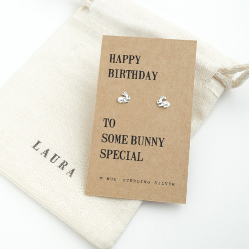 Happy Birthday Bunny Earrings