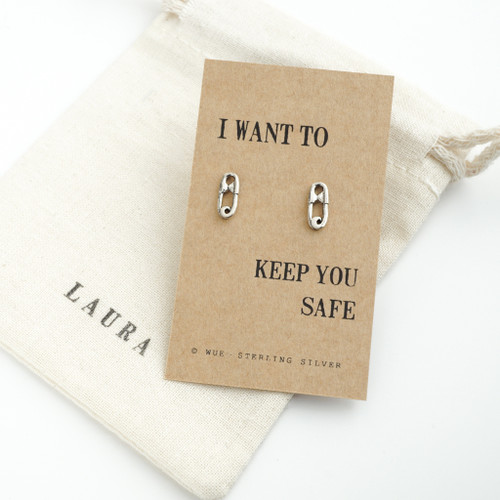 Silver Keep You Safe Earrings
