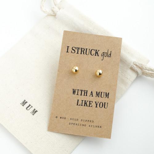 Struck Gold Mum Earrings