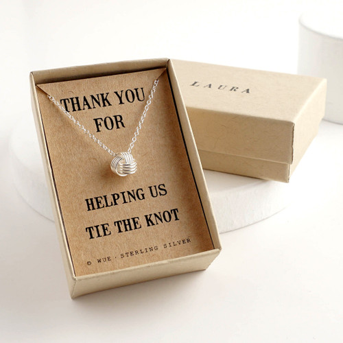 Bridesmaid Gift Knot Necklace