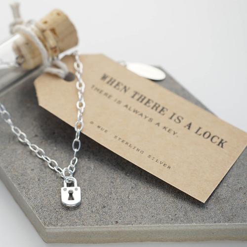 Lock Silver Bracelet