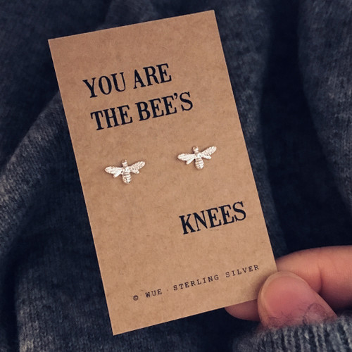 Bees knees Silver Earrings