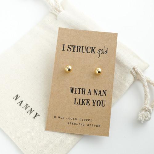 Struck Gold Nan Earrings