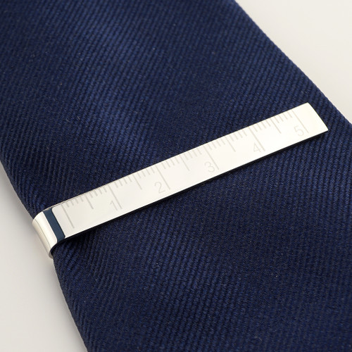 Personalised Ruler Tie Clip for Dad