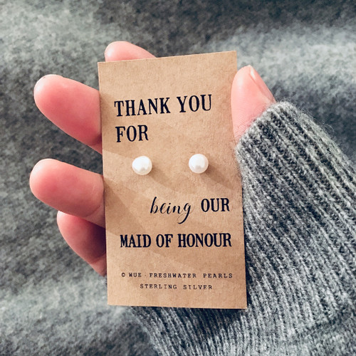 Maid Of Honour Pearl Earrings