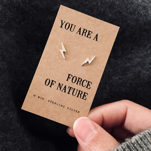 Force Of Nature Lightning Silver Earrings