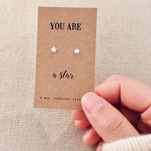 You Are A Star Silver Earrings