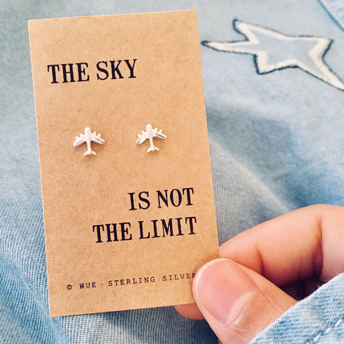 Sky Not The Limit Airplane Earrings Lifestle