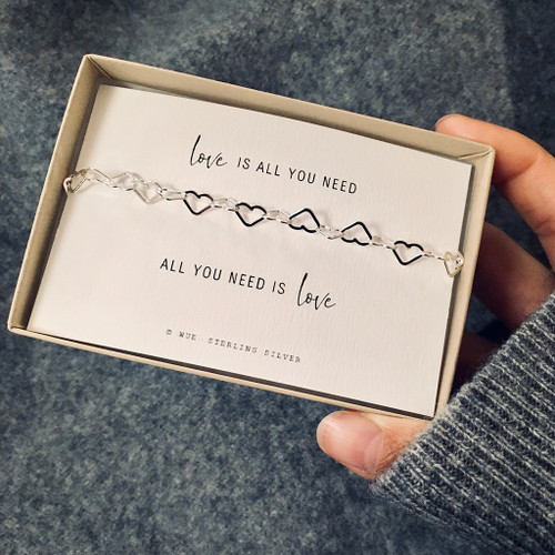 Love Is All You Need Silver Bracelet