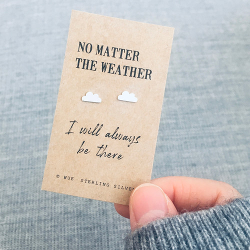 No Matter Silver Cloud Earrings