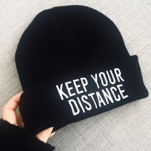 Keep Your Distance Beanie Hat