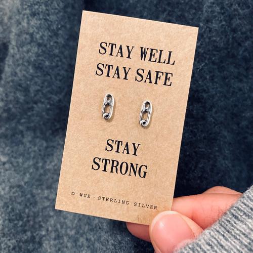 Stay Safe Silver Earrings