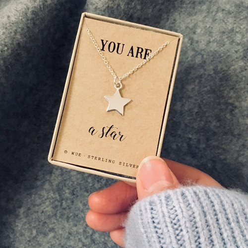 You Are A Star Silver Necklace