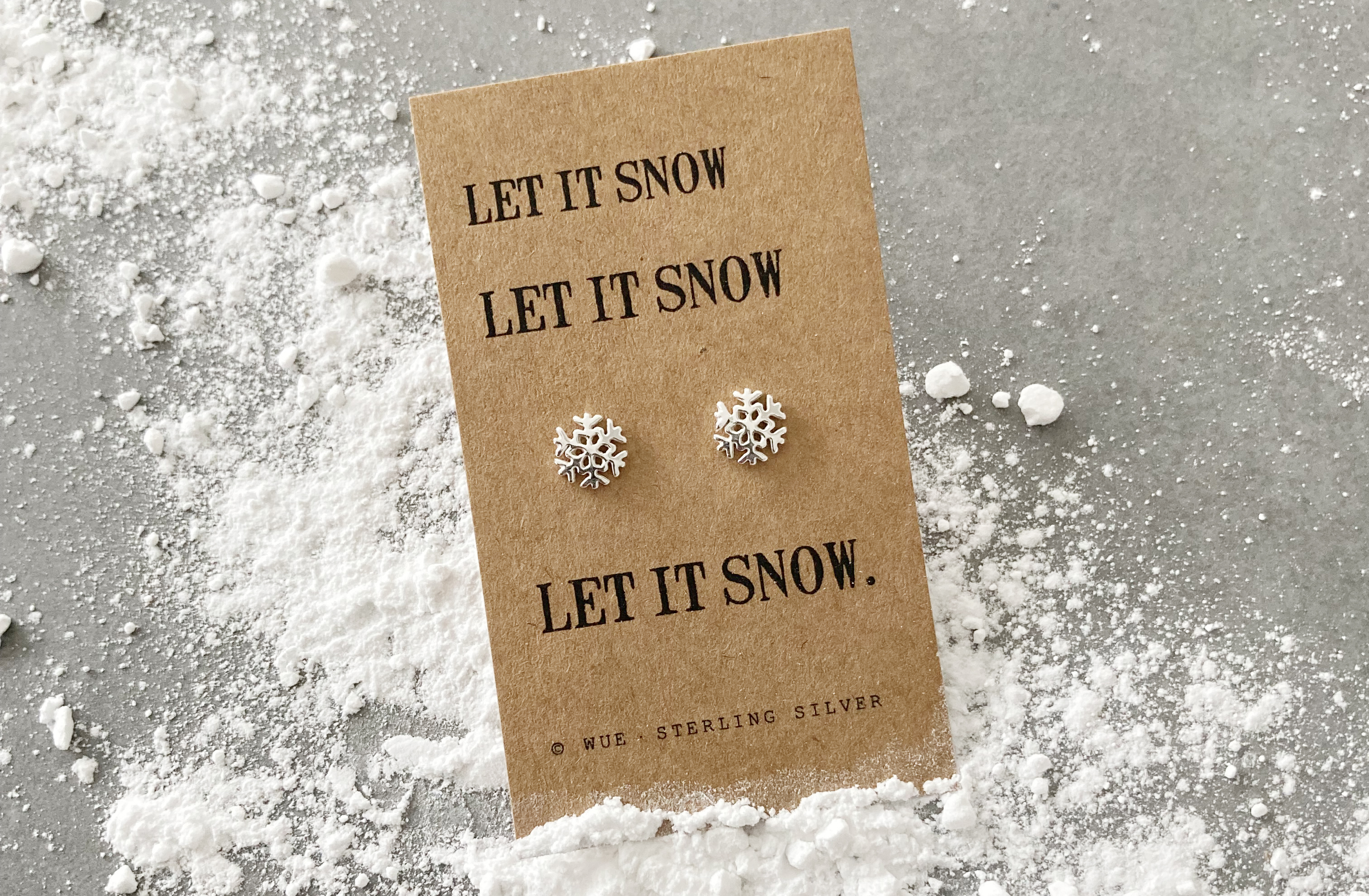 Let It Snow Silver Snowflake Earrings