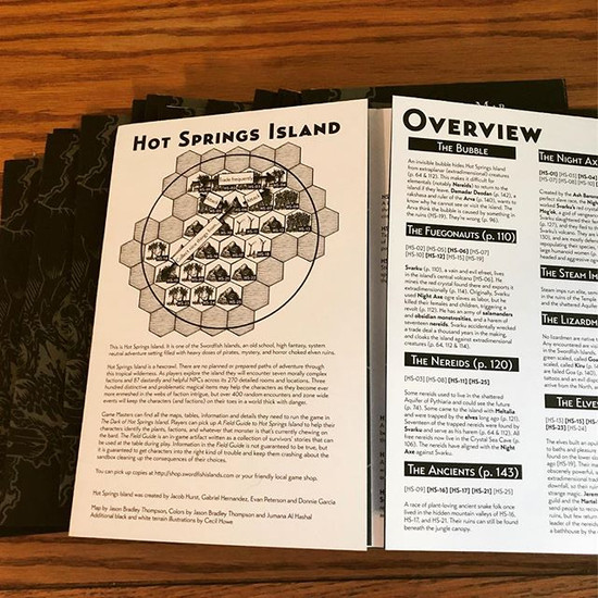 A Map and PDFs of Hot Springs Island
