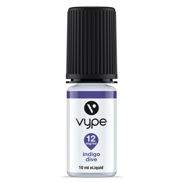Vype e liquid from the Vype Cool Collection, Indigo Dive