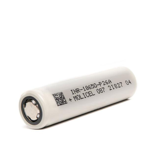 MoliCel P26A 18650 Battery 2600mah 25A
