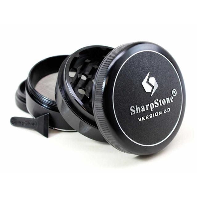 Sharpstone V2 Herb & Tobacco Hard Top Grinder Black