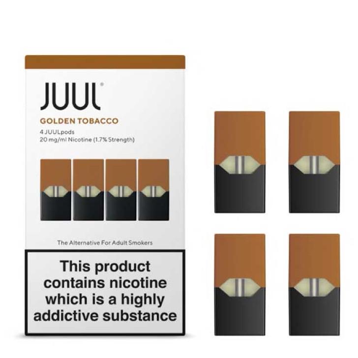 JUUL pods; Golden Tobacco JUUL salt pods