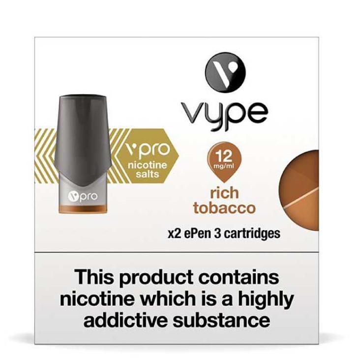 Vype ePen 3 vPro cartridge refills (2 pack)