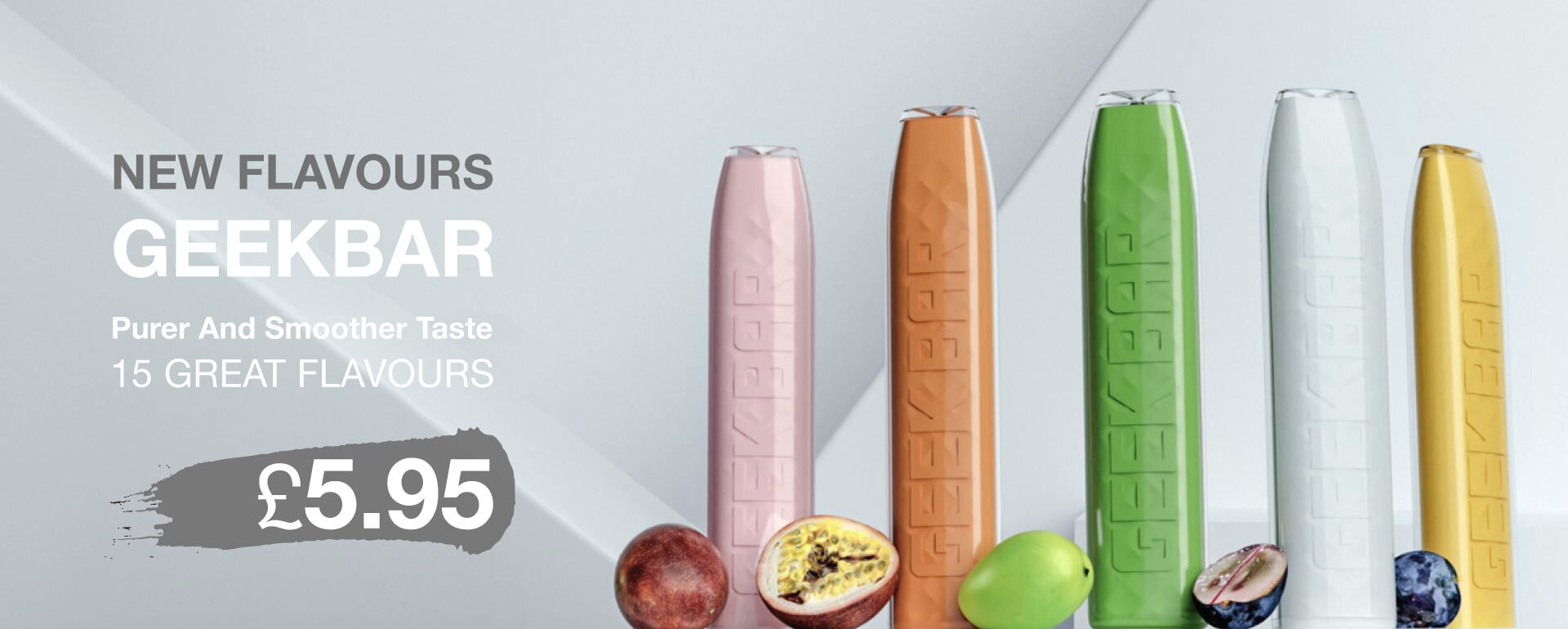 Geek Bar New Flavours disposable pod vapes