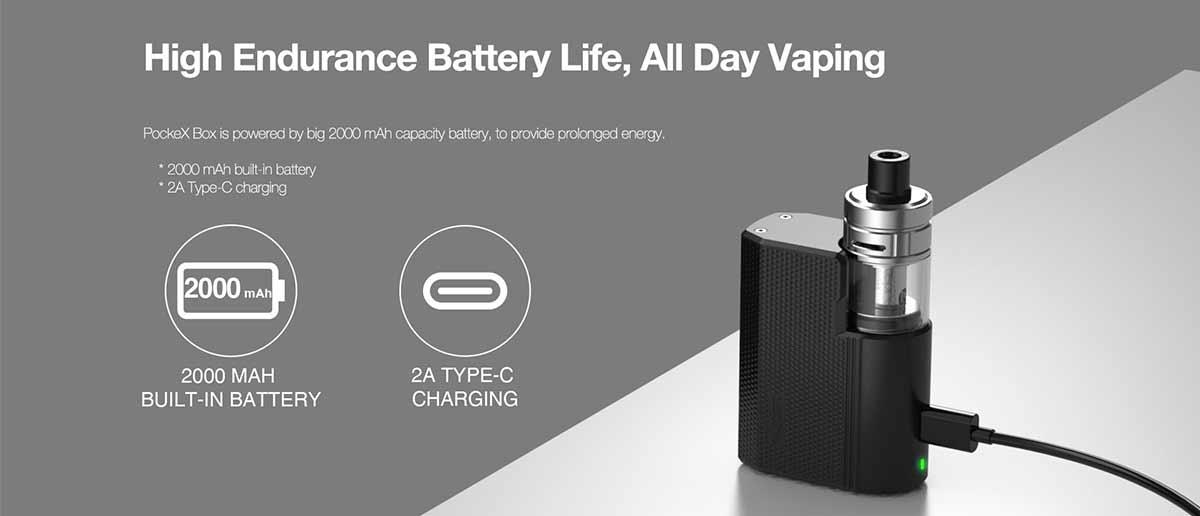 aspire pockex box 2000mah battery