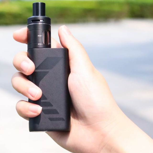 Holding Kanger Subox Mini V2 in hand