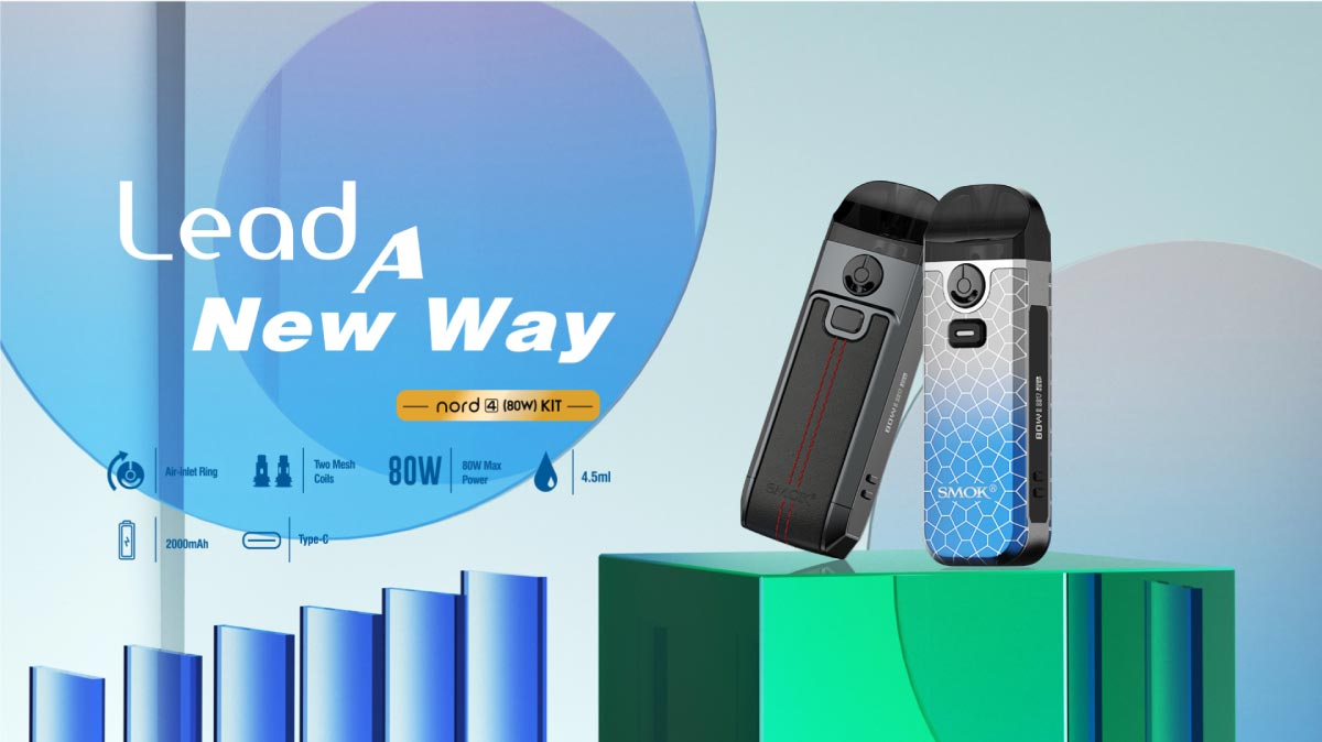 The new Smok Nord 4 pod kit