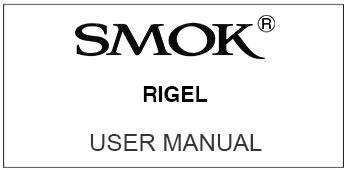 smok rigel user manual