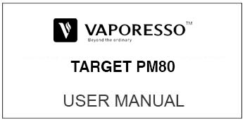 vaporesso pm80 user manual
