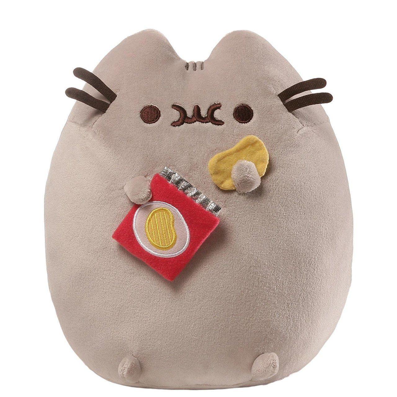 b81aa12c6e4 GUND Pusheen Stuffed Animal Plush Cat with Potato Chips