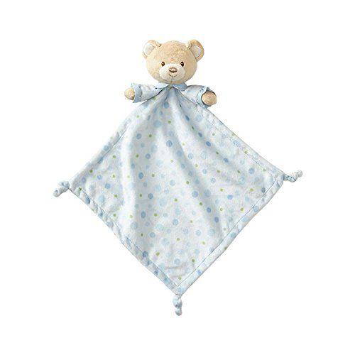 Beginnings by Enesco Plush Baby Boy Bear Lovey Blanket, 16 inches, Blue