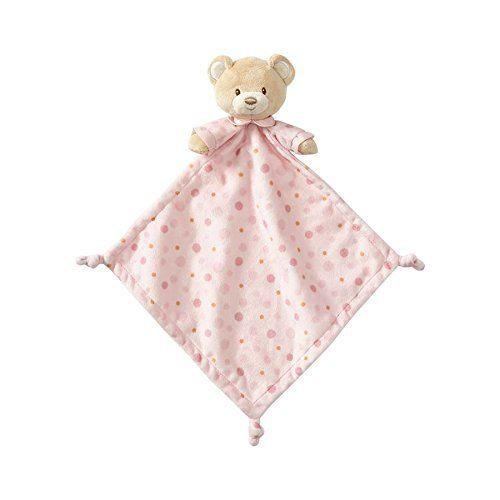 Beginnings by Enesco Plush Baby Girl Bear Lovey Blanket, 16 inches, Pink
