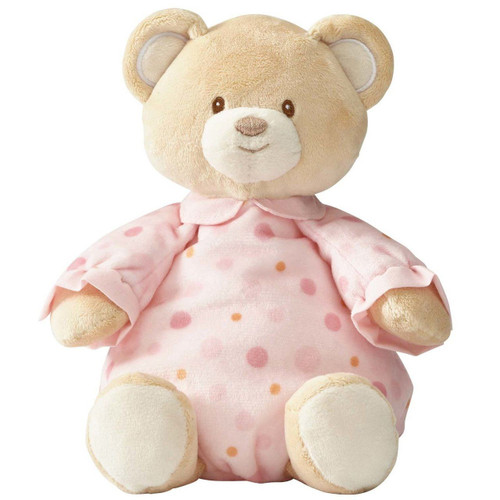 Beginnings by Enesco Baby Girl Plush Pajama Bear, Pink, 10 inches