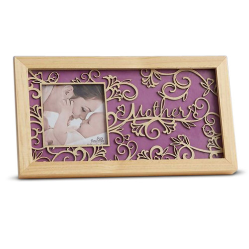 Flourish Mother Photo Frame, Wall or Shelf, 7H x 13L inches