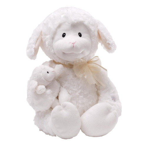 GUND Nursery Rhyme Time Lamb Animated Stuffed Animal Plush, 10 inches, White