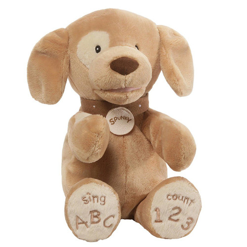 GUND Baby Spunky ABC 123 Stuffed Animated Plush Dog, 14 inches