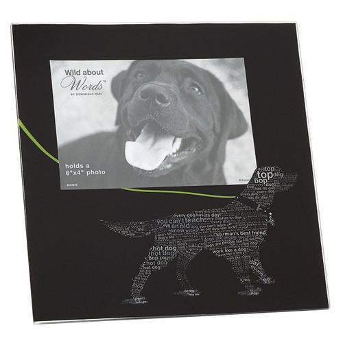 Wild About Words Labrador Retriever Dog Photo Frame, 8.5 inches, Black