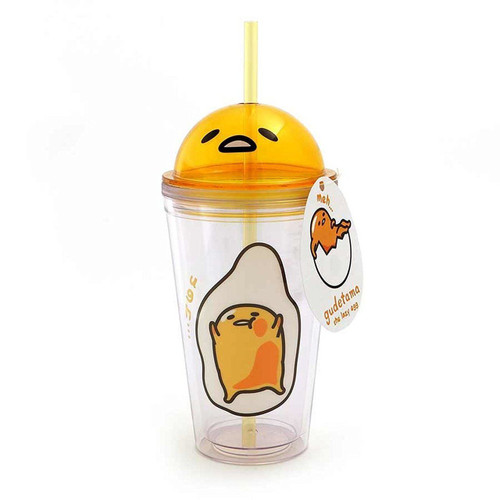 Enesco Gudetama for Our Name Is Mud Gudetama Cold Beverage Tumbler, 16 ounces
