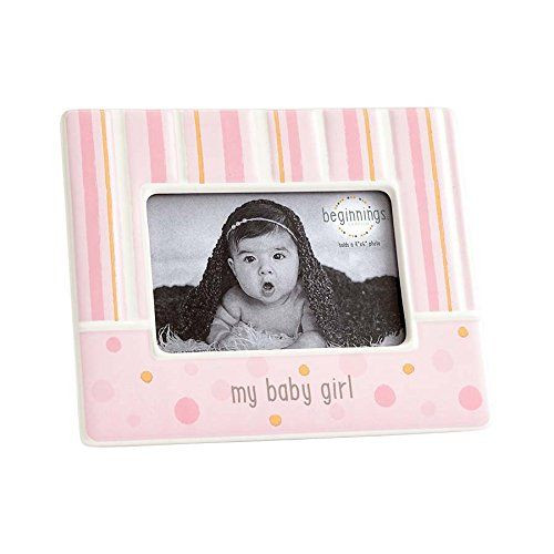 Beginnings by Enesco My Baby Girl Photo Frame, Pink