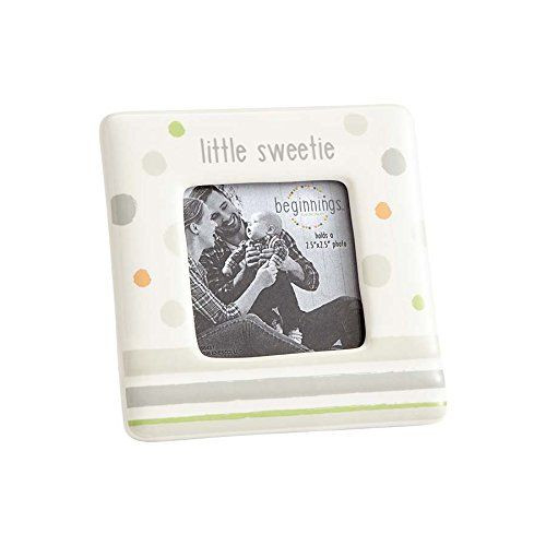 Beginnings by Enesco Little Sweetie New Baby Photo Frame, Neutral