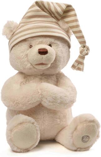 "GUND® Animated Goodnight Prayer Bear Spiritual Plush Stuffed Animal, 15"""