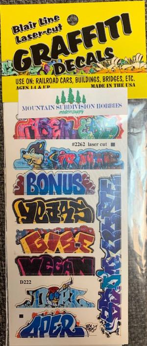 Blair Line 2262 HO Graffiti Mega Decals #13 Laser-cut
