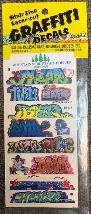 Blair Line 2259 HO Graffiti Mega Decals #10 Laser-cut
