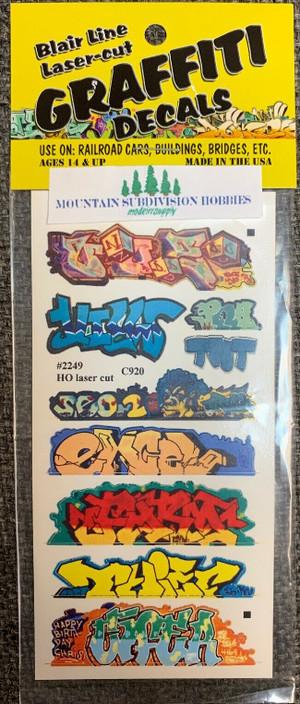 Blair Line 2249 HO Graffiti Mega Decals #6 Laser-cut