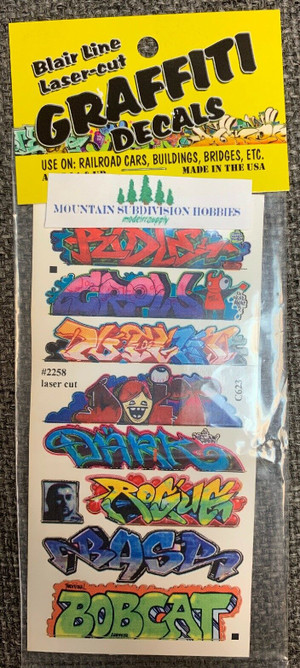 Blair Line 2258 HO Graffiti Mega Decals #9 Laser-cut