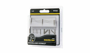 """Woodland Scenics A2980 HO Barbed Wire Fence, Gates, Posts, 26.4"""""""