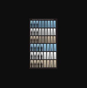 City Classics 708 HO scale Large Curtains in Blue, White and Beige