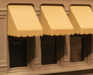 "City Classics 975 HO Window Awnings 12 each - 3/4"" wide awnings"