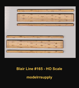 Blair Line 165 HO Laser-cut 2-lane Wood Grade Crossing